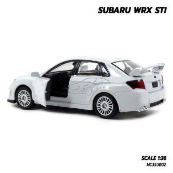 โมเดลรถ SUBARU WRX STI สีขาว (1:36) เปิดประตูรถได้