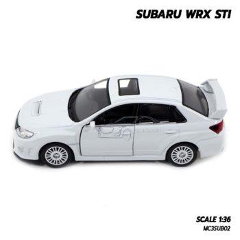 โมเดลรถ SUBARU WRX STI สีขาว (1:36) มีลานดึงปล่อยรถวิ่งได้