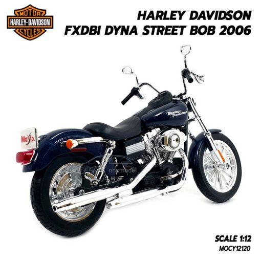 โมเดลฮาเล่ย์ HARLEY DAVIDSON DYNA STREET BOB 2006 (1:12) โมเดลจำลองเหมือนจริง