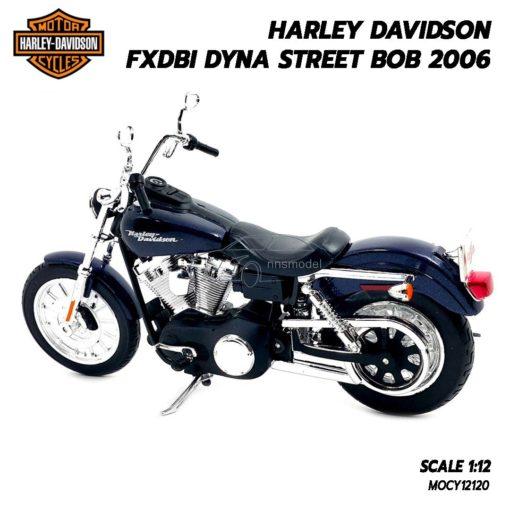 โมเดลฮาเล่ย์ HARLEY DAVIDSON DYNA STREET BOB 2006 (1:12) โมเดลลิขสิทธิแท้ ผลิตโดยแบรนด์ Maisto