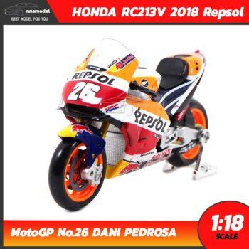 โมเดล MotoGP 2018 HONDA RC213V 2018 Repsol No.26 DANI PEDROSA