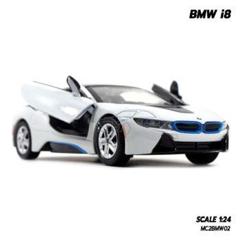 model bmw i8 white (1:24) โมเดลรถสวยๆ น่าสะสม