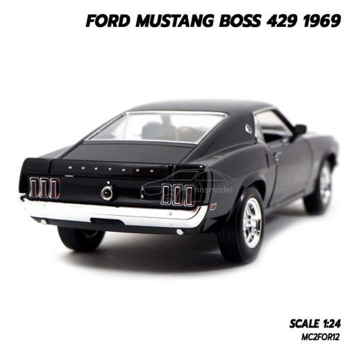 โมเดลฟอร์ดมัสแตง Ford Mustang Boss 429 1969 สีดำ (Scale 1/24) มัสแตงคลาสสิค สวยๆ