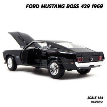 โมเดลฟอร์ดมัสแตง Ford Mustang Boss 429 1969 สีดำ (Scale 1/24) โมเดลประกอบสำเร็จ