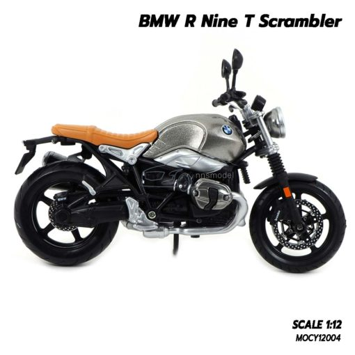 โมเดลมอเตอร์ไซด์ BMW R Nine T Scrambler (Scale 1/12) โช๊คอัพกดขึ้นลงได้