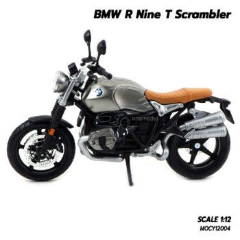 โมเดลมอเตอร์ไซด์ BMW R Nine T Scrambler (Scale 1/12) ล้อยางหมุนได้