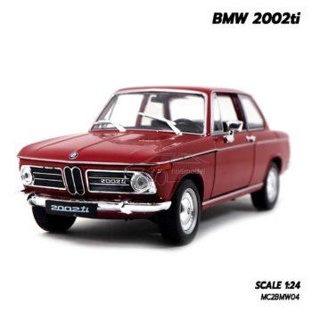 โมเดลรถคลาสสิค BMW 2002ti สีแดง (Scale 1/24)