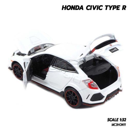 โมเดลรถยนต์ HONDA CIVIC TYPE R (Scale 1:32) ประตูท้ายรถเปิดได้