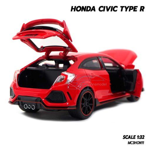 โมเดลรถยนต์ HONDA CIVIC TYPE R (Scale 1:32) เปิดฝากระโปรงท้ายรถได้