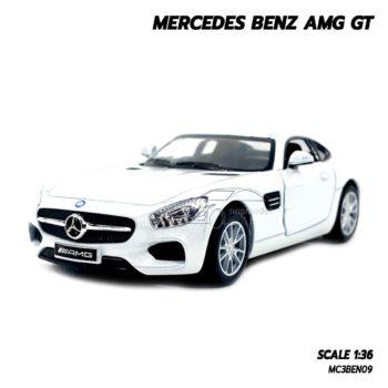 โมเดลรถเบนซ์ MERCEDES BENZ AMG GT (1:36) สีขาว รถเหล็กราคาถูก