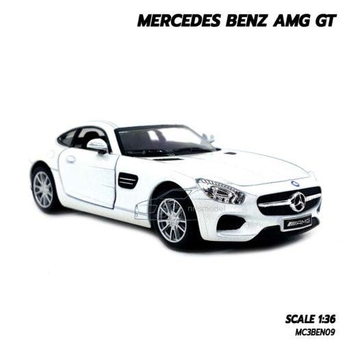โมเดลรถเบนซ์ MERCEDES BENZ AMG GT (1:36) สีขาว รถเหล็กประกอบสำเร็จ