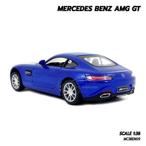 โมเดลรถเบนซ์ MERCEDES BENZ AMG GT (1:36) น้ำเงิน ขายส่งโมเดลรถ