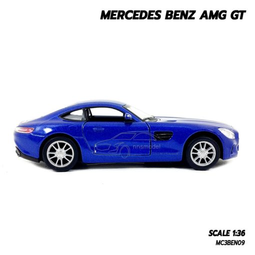 โมเดลรถเบนซ์ MERCEDES BENZ AMG GT (1:36) น้ำเงิน รถโมเดลประกอบสำเร็จ