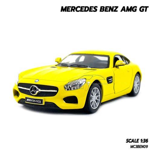โมเดลรถเบนซ์ MERCEDES BENZ AMG GT (1:36) สีเหลือง สวยเหมือนจริง