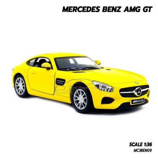 โมเดลรถเบนซ์ MERCEDES BENZ AMG GT (1:36) สีเหลือง รถโมเดล ราคาถูก