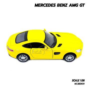 โมเดลรถเบนซ์ MERCEDES BENZ AMG GT (1:36) สีเหลือง รถโมเดล มีลานดึงปล่อยรถวิ่งได้