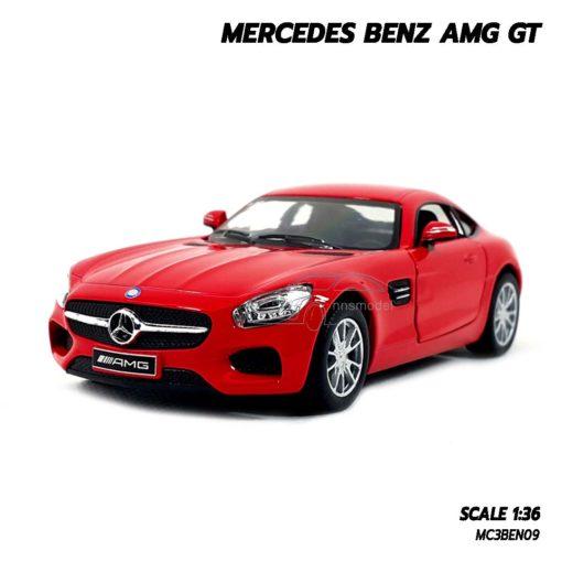 โมเดลรถเบนซ์ MERCEDES BENZ AMG GT (1:36) สีแดง โมเดลรถเหมือนจริง