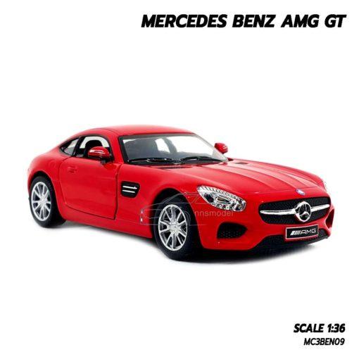 โมเดลรถเบนซ์ MERCEDES BENZ AMG GT (1:36) สีแดง โมเดลรถ รุ่นขายดี