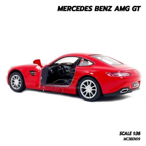 โมเดลรถเบนซ์ MERCEDES BENZ AMG GT (1:36) สีแดง โมเดลรถจำลองเหมือนจริง