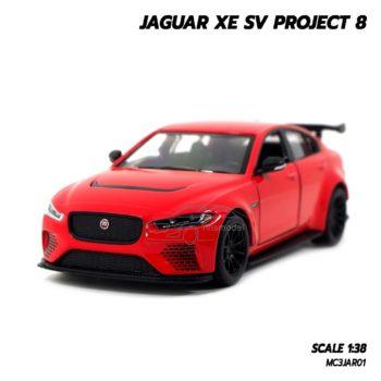 โมเดลรถเหล็ก JAGUAR XE SV PROJECT 8 สีแดง (1:38) โมเดลรถสมจริง