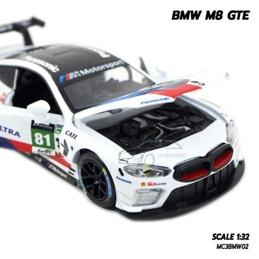 โมเดลรถ BMW M8 GTE Motorsport (Scale 1/32) เปิดฝากระโปรงหน้าได้