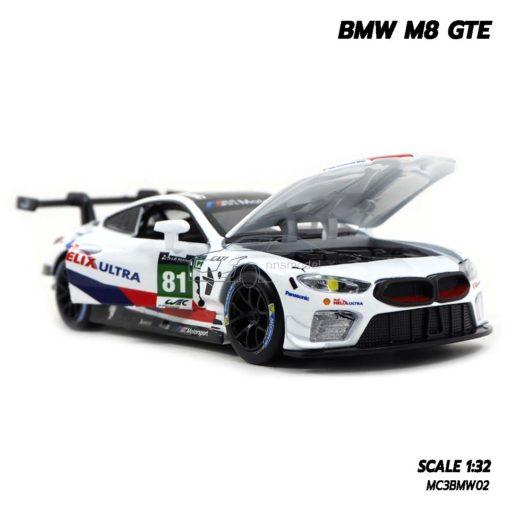 โมเดลรถ BMW M8 GTE Motorsport (Scale 1/32) โมเดลรถจำลองเหมือนจริง