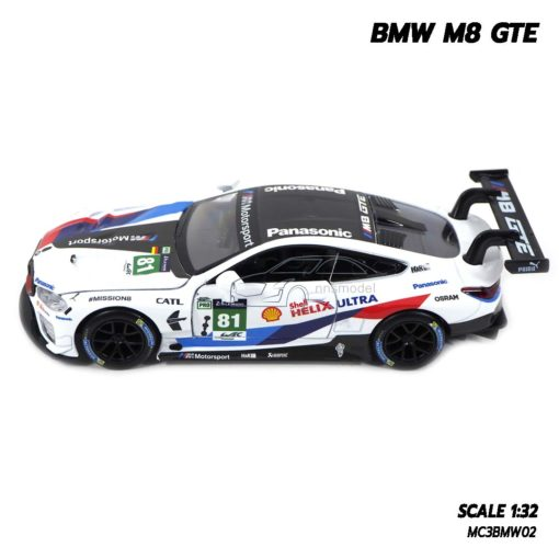 โมเดลรถ BMW M8 GTE Motorsport (Scale 1/32) โมเดลรถสปอร์ต จำลองเหมือนจริง