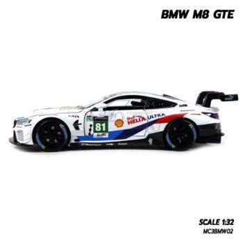 โมเดลรถ BMW M8 GTE Motorsport (Scale 1/32) โมเดลรถสปอร์ต มีเสียงมีไฟ