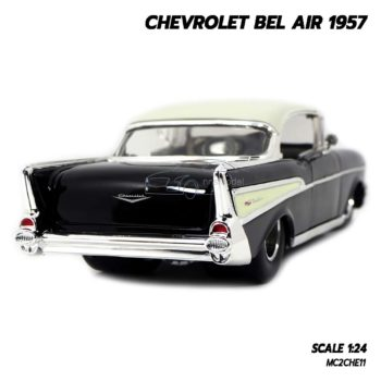 โมเดลรถ CHEVROLET BEL AIR 1957 สีดำ (Scale 1:24) รถคลาสสิคเหมือนจริง