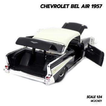 โมเดลรถ CHEVROLET BEL AIR 1957 สีดำ (Scale 1:24) รถเหล็ก ผลิตโดย Jada Toy