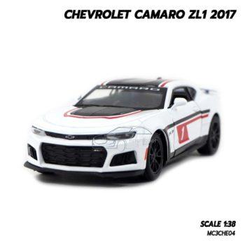 โมเดลรถ Chevrolet Camaro ZL1 2017 สีขาว (1:38) โมเดลสมจริง