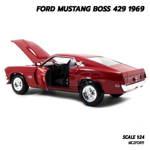 โมเดลรถ FORD MUSTANG BOSS 429 1969 สีแดง (Scale 1/24) ภายในรถเหมือนจริง