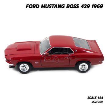 โมเดลรถ FORD MUSTANG BOSS 429 1969 สีแดง (Scale 1/24) โมเดลรถประกอบสำเร็จ