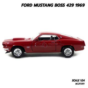 โมเดลรถ FORD MUSTANG BOSS 429 1969 สีแดง (Scale 1/24) ผลิตโดยแบรนด์ Welly Nex