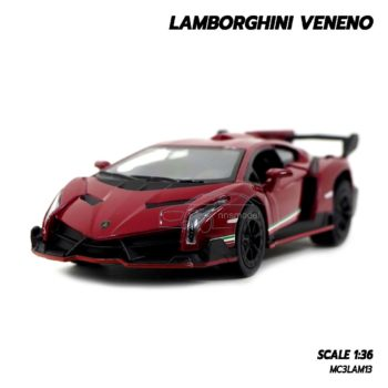 โมเดลรถ Lamborghini Veneno สีแดง
