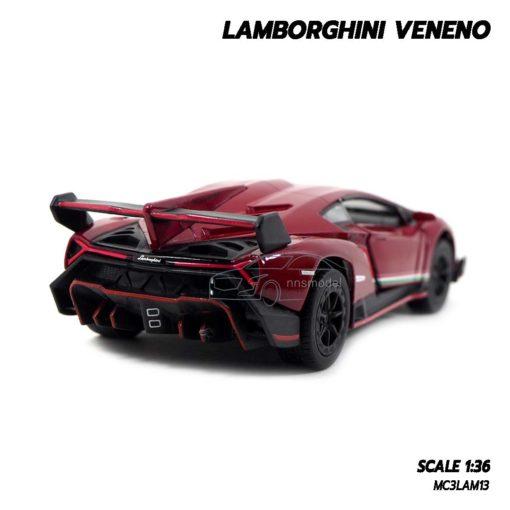 โมเดลรถ Lamborghini Veneno สีแดง รถเหล็ก ราคาถูก