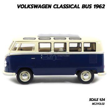 โมเดลรถ Volkswagen Bus 1962 สีน้ำเงิน (1:24) โมเดลรถ ของขวัญสำหรับคนพิเศษ