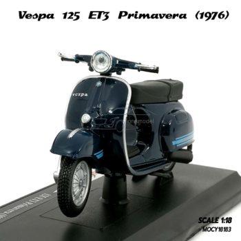 โมเดลเวสป้า VESPA 125 ET3 PRIMAVERA 1976 สีน้ำเงิน (1:18)