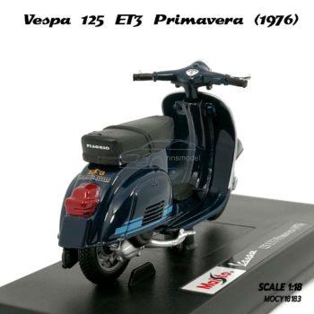 โมเดลเวสป้า VESPA 125 ET3 PRIMAVERA 1976 สีน้ำเงิน (1:18) Maisto
