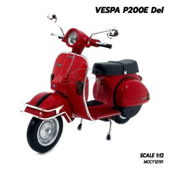 โมเดลเวสป้า VESPA P200E Del สีแดง (1:12)
