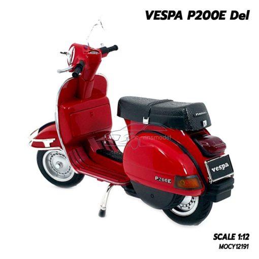 โมเดลเวสป้า VESPA P200E Del สีแดง (1:12) โมเดลเวสป้าราคาถูก