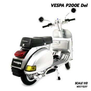 โมเดลเวสป้า VESPA P200E Del สีบรอนด์เงิน (1:12) ประกอบสำเร็จ