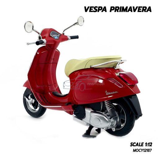 โมเดลเวสป้า VESPA PRIMAVERA สีแดง (Scale 1:12) เวสป้าโมเดล สวยๆ น่าสะสม