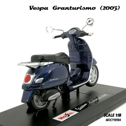 โมเดล VESPA GRANTURISMO 2003 สีน้ำเงิน (1:18) พร้อมฐานวางตั้งโชว์
