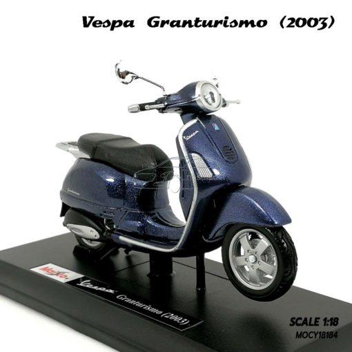 โมเดล VESPA GRANTURISMO 2003 สีน้ำเงิน (1:18) เวสป้าโมเดล ประกอบสำเร็จ