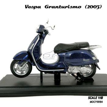 โมเดล VESPA GRANTURISMO 2003 สีน้ำเงิน (1:18) โมเดลเวสป้าจำลองเหมือนจริง