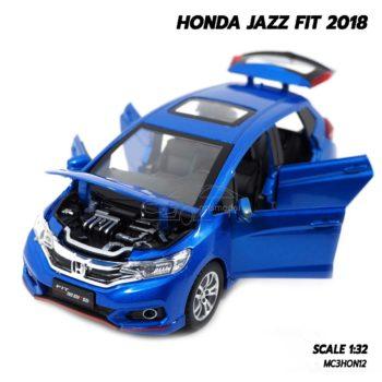 โมเดลรถแจ๊ส 2018 สีน้ำเงิน (1:32) รถโมเดล honda jazz ประกอบสำเร็จ
