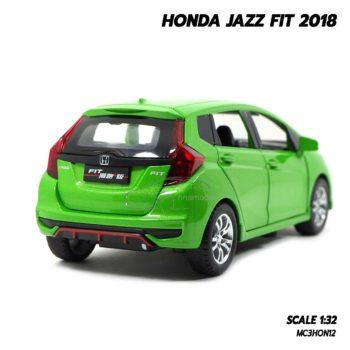 โมเดลรถแจ๊ส FIT 2018 สีเขียว (1:32) โมเดลจำลองเหมือนจริง
