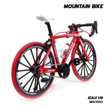 โมเดลจักรยาน MOUNTAIN BIKE สีแดง โมเดลประกอบสำเร็จ สวยน่าสะสม