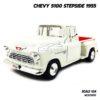โมเดลรถกระบะ CHEVY 5100 STEPSIDE 1955 สีขาว โมเดลประกอบสำเร็จ